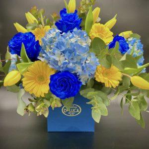 FLower Box Blue Navy